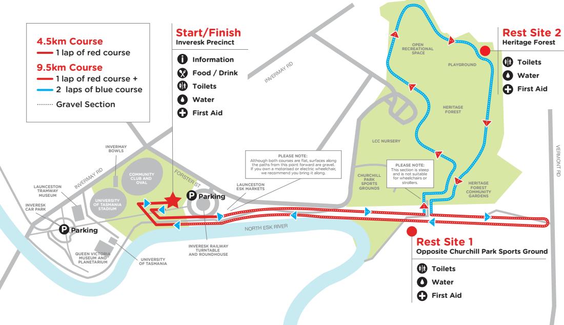 Launceston Course Map