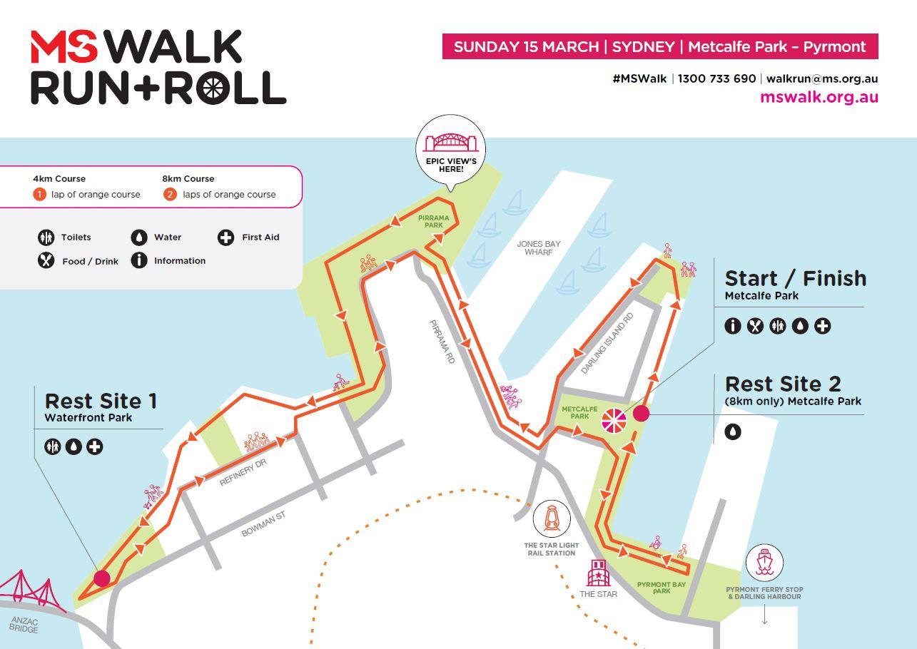 Sydney course map