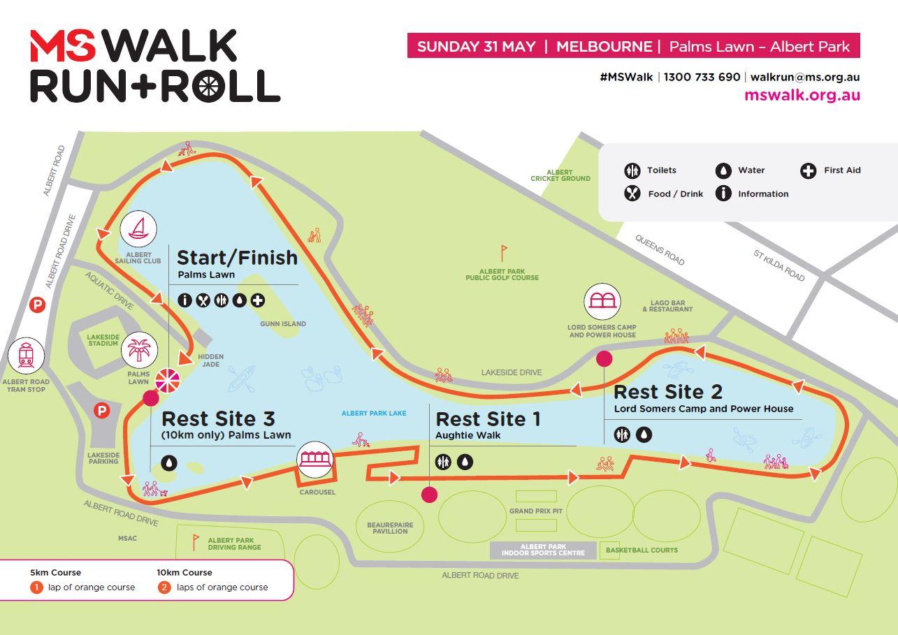 Melbourne course map